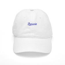 Darwin, Blue, Aged Baseball Cap