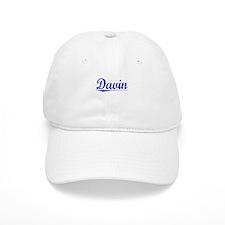 Davin, Blue, Aged Baseball Cap