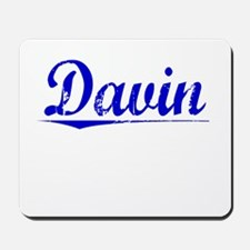 Davin, Blue, Aged Mousepad
