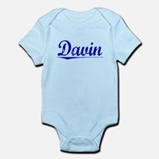 Davin, Blue, Aged Onesie
