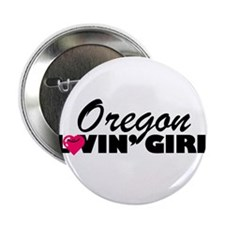 Oregon Loving girl Button