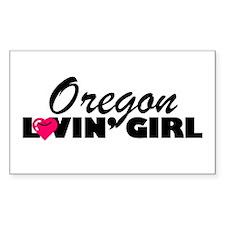 Oregon Loving girl Rectangle Decal