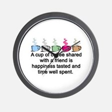COFFEE SHARED Wall Clock