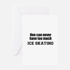 Never Too Much ICE SKATING Greeting Cards (Package