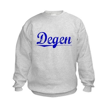 Degen, Blue, Aged Kids Sweatshirt