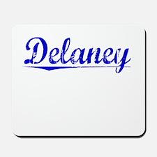 Delaney, Blue, Aged Mousepad