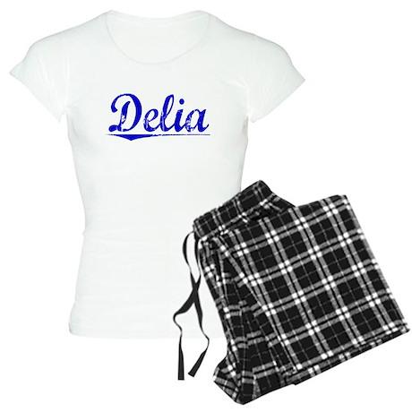 Delia, Blue, Aged Women's Light Pajamas