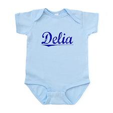 Delia, Blue, Aged Infant Bodysuit