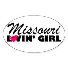 Missouri Loving girl Oval Decal