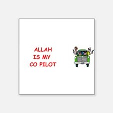 "my copilot Square Sticker 3"" x 3"""