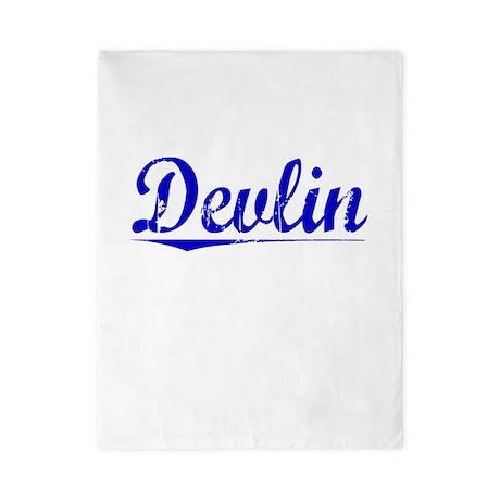 Devlin, Blue, Aged Twin Duvet