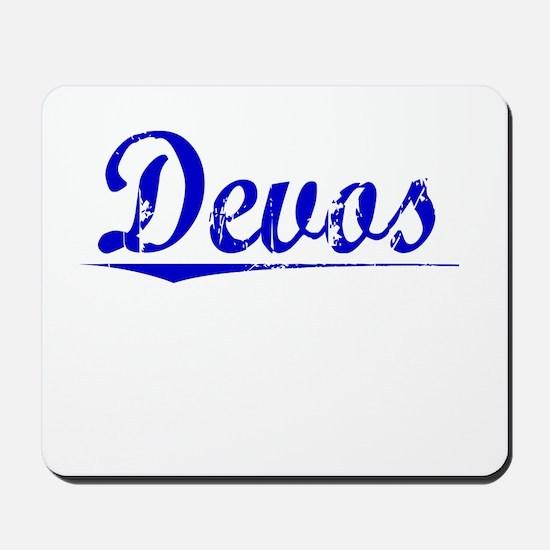 Devos, Blue, Aged Mousepad
