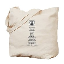 US Route 66 - Illinois - old cities.png Tote Bag