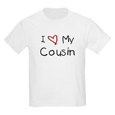 I Love My Cousin Ash Grey T-Shirt T-Shirt