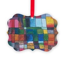 Color Block Ornament