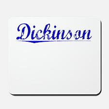 Dickinson, Blue, Aged Mousepad