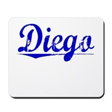 Diego, Blue, Aged Mousepad