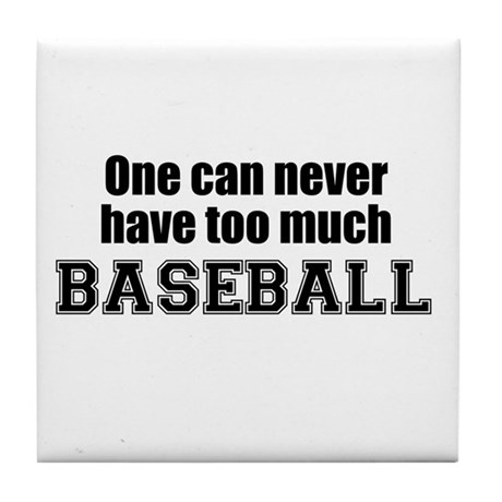 Never Too Much BASEBALL Tile Coaster