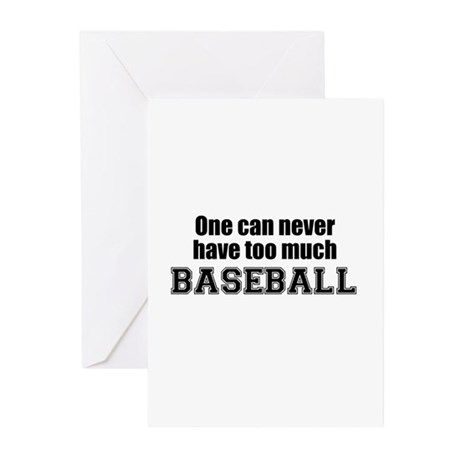 Never Too Much BASEBALL Greeting Cards (Package of
