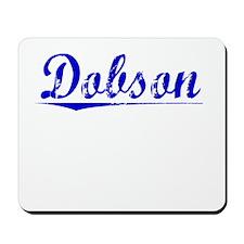 Dobson, Blue, Aged Mousepad