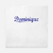 Dominique, Blue, Aged Queen Duvet