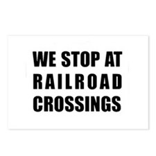 RR Crossing Sign Postcards (Package of 8)