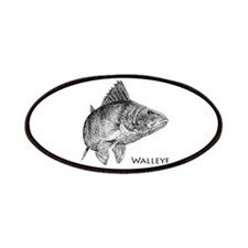 Walleye Line Art Patches