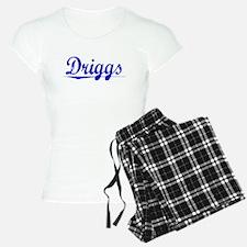 Driggs, Blue, Aged Pajamas