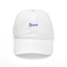 Drown, Blue, Aged Baseball Cap