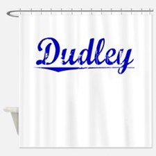 Dudley, Blue, Aged Shower Curtain