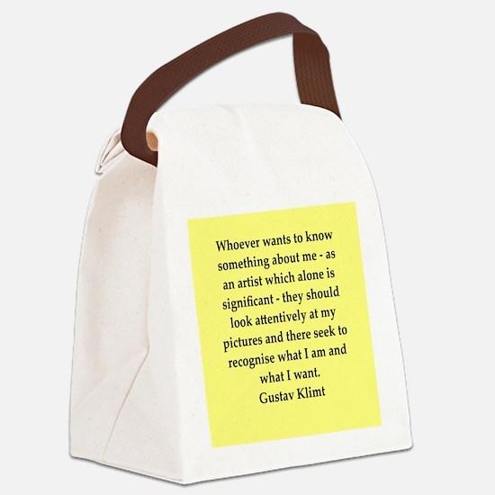 klimt4.png Canvas Lunch Bag