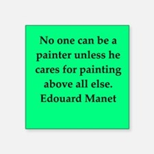 "manet4.png Square Sticker 3"" x 3"""