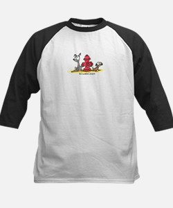 dogs and a fire hydrant Kids Baseball Jersey