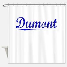 Dumont, Blue, Aged Shower Curtain