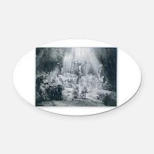 rembrandt13.png Oval Car Magnet