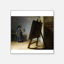 "rembrant9.png Square Sticker 3"" x 3"""