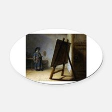 rembrant9.png Oval Car Magnet