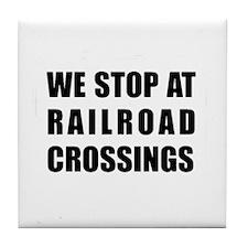 RR Crossing Sign Tile Coaster
