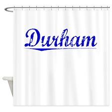 Durham, Blue, Aged Shower Curtain