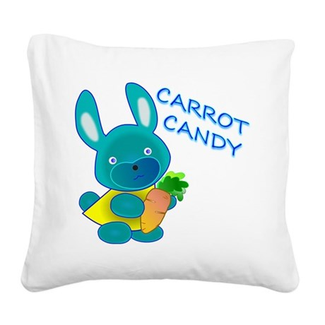 Carrot Candy Square Canvas Pillow