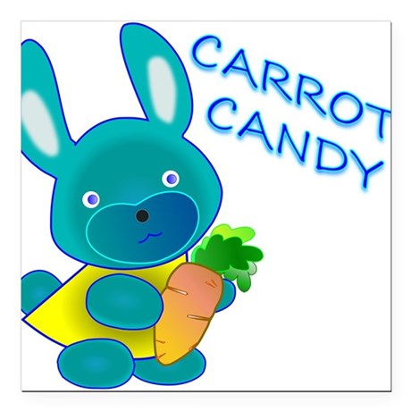 "Carrot Candy Square Car Magnet 3"" x 3"""