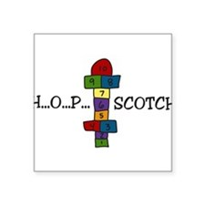 """Hopscotch Square Sticker 3"""" x 3"""""""