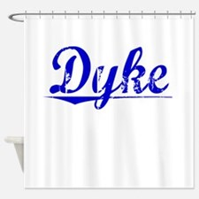 Dyke, Blue, Aged Shower Curtain