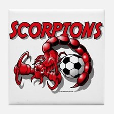 Scorpions Soccer Tile Coaster