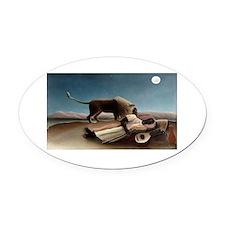 henri rousseau Oval Car Magnet
