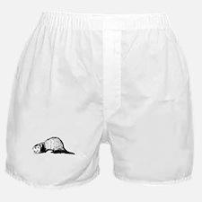 Hand Sketched Ferret Boxer Shorts