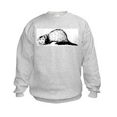 Hand Sketched Ferret Sweatshirt
