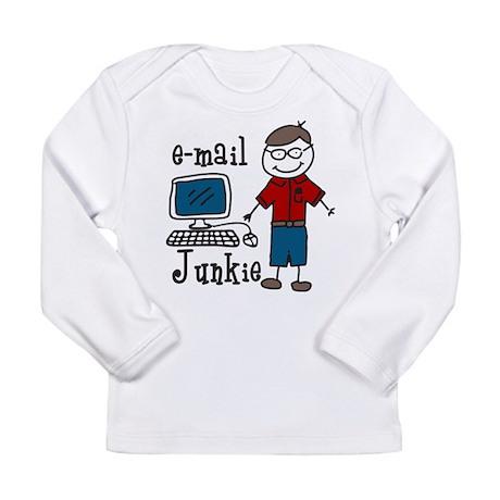 E-Mail Junkie Long Sleeve Infant T-Shirt