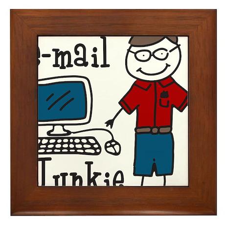 E-Mail Junkie Framed Tile