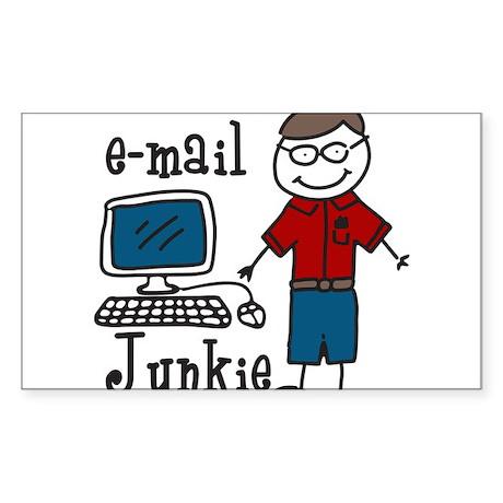 E-Mail Junkie Sticker (Rectangle)